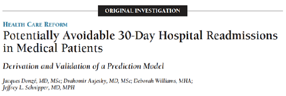 Potentially avoidable 30-day hospital readmissions in medical patients