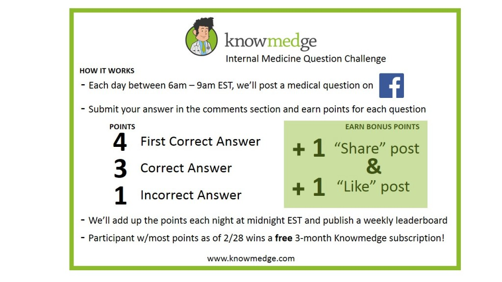 Knowmedge Internal Medicine Question Challenge How it Works