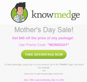 Knowmedge Mother's Day - IM QBank Sale